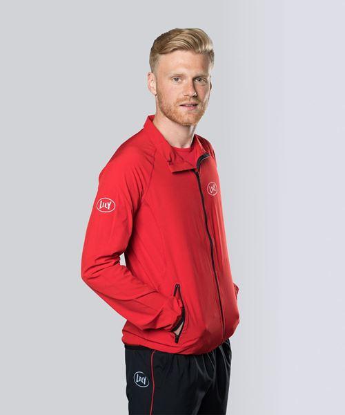 Image sur Veste de sport rouge pour hommes