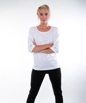 Afbeeldingen van Dames T-shirt 3/4 mouw Riga (wit)