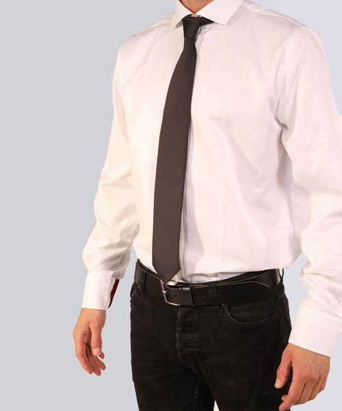 Image sur cravate noire