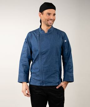 Afbeeldingen van Gramercy Chef Coat blue denim