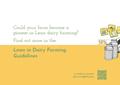 """Bild von """"Lean in dairy farming - Approach"""" (dt.: Lean-Prinzip in der Milchviehwirtschaft - Ansatz)"""