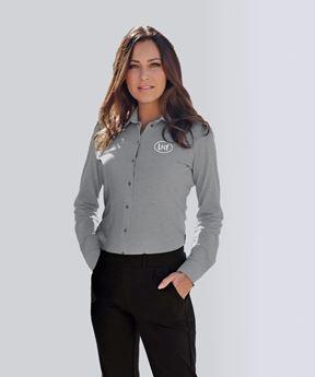 Image de Chemise en coton piqué pour femmes